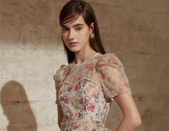 MAXRIENY爱之花语系列 仙女复古风女装裙子,表白你的爱意